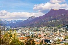 Vista di Lugano fotografia stock libera da diritti