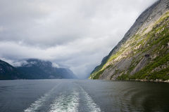Vista di Lysefjord fotografia stock libera da diritti