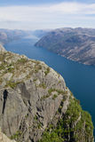 Vista 073 di Lysefjord Fotografie Stock Libere da Diritti