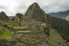 Vista di Machu Picchu nel Perù fotografie stock