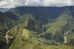 Vista di Machu Picchu, Perù fotografia stock