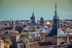 Vista di Madrid da Almudena Cathedral, Spagna Fotografia Stock Libera da Diritti