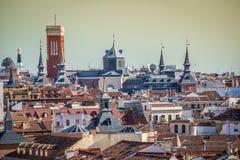 Vista di Madrid da Almudena Cathedral, Spagna Fotografia Stock