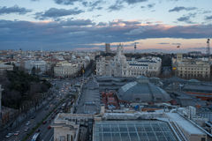 Vista di Madrid dai artes di circulo de bellas Fotografia Stock