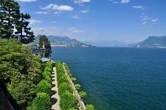 Vista di Maggiore del lago dal bella di Isola Immagine Stock Libera da Diritti