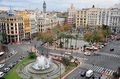 Vista di magia di Valencia Fotografia Stock