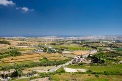Vista di Malta da Mdina Fotografia Stock Libera da Diritti