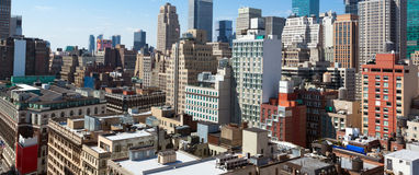 Vista di Manhattan dalle Empire State Building Immagine Stock Libera da Diritti
