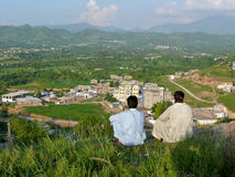 Vista di Mansehra nel Pakistan del Nord immagini stock