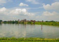 Vista di Mantova Lombardia, Italia fotografia stock