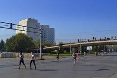 Vista di maratona della città di Sofia Fotografie Stock
