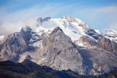 Vista di Marmolada, montagne delle dolomia, Italia Immagine Stock Libera da Diritti
