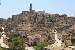 Vista di Matera, Italia Fotografia Stock Libera da Diritti