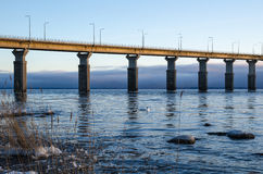 Vista di mattina dal ponte Fotografie Stock