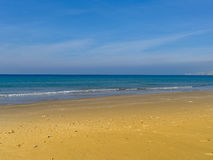 Vista di mattina della costa di Atlit, distretto del nord di Israele Immagine Stock