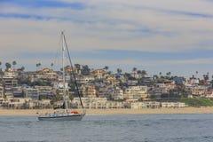 Vista di mattina della riva vicino a Manhattan Beach ed a Redondo Beach Fotografie Stock Libere da Diritti