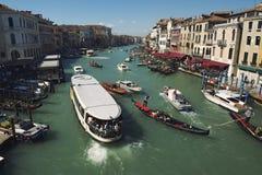 Vista di mattina di Grand Canal Venezia Fotografia Stock Libera da Diritti