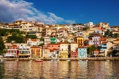 Vista di mattina di Parga, Grecia Fotografie Stock