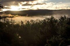 Vista di mattina in Nuova Inghilterra Fotografia Stock Libera da Diritti