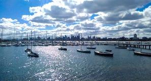 Vista di Melbourne dalla st Kilda fotografia stock libera da diritti