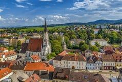 Vista di Melk, Austria fotografie stock