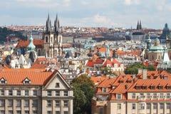 Vista di Mesto Città Vecchia di sguardo fisso, Praga, Immagini Stock Libere da Diritti