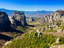 Vista di Meteora fotografia stock libera da diritti