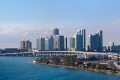 Vista di Miami Fotografia Stock