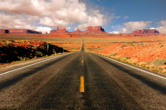 Vista di miglio 13 dell'Arizona della valle del monumento Fotografia Stock Libera da Diritti