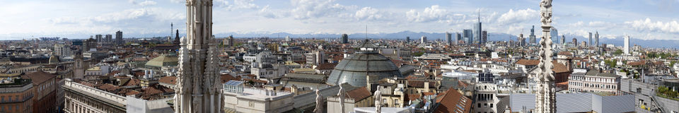 Vista di Milano Fotografie Stock