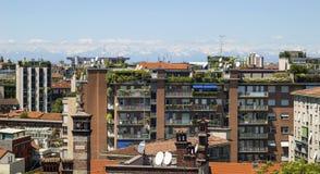 Vista di Milano Fotografia Stock