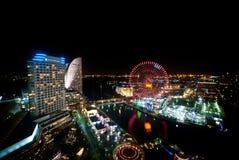Vista di Minato Mirai, Yokohama, Giappone dalla cima della costruzione a Immagini Stock Libere da Diritti