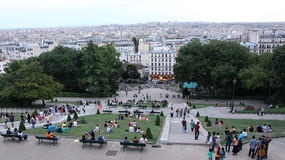 Vista di Monmartre dalla collina Fotografia Stock Libera da Diritti