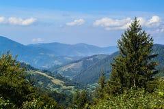 Vista di Montainous nel carpatico Fotografia Stock Libera da Diritti