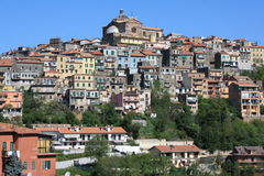 Vista di Montecompatri (Roma, Italia) Immagini Stock