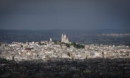 Vista di Montmartre a Parigi Fotografia Stock