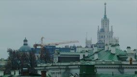 Vista di Mosca stock footage
