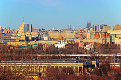 Vista di Mosca dalle colline del passero Immagine Stock Libera da Diritti
