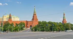 Vista di Mosca Kremlin Immagine Stock Libera da Diritti