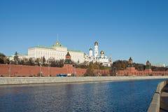 Vista di Mosca Kremlin Fotografia Stock Libera da Diritti