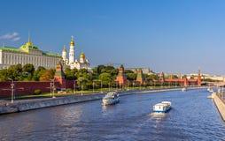 Vista di Mosca Kremlin Fotografia Stock