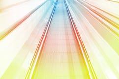Vista di moto di velocità vaga estratto di colore Fotografia Stock