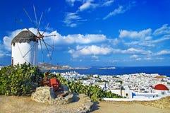 Vista di Mykonos Immagini Stock