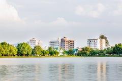Vista di Nakornsawan Tailandia, Nhongsombun Fotografia Stock