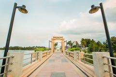 Vista di Nakornsawan Tailandia, Nhongsombun Fotografie Stock Libere da Diritti