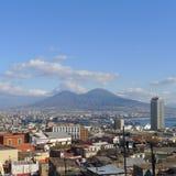 Vista di Napoli Immagini Stock
