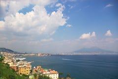 Vista di Napoli fotografia stock libera da diritti