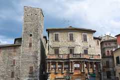 Vista di Narni. L'Umbria. L'Italia. Fotografie Stock