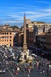Vista di Navona della piazza Fotografia Stock Libera da Diritti