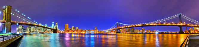 Vista di New York City Fotografia Stock